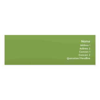 Ondas de Foamgreen - magros Cartão De Visita Skinny