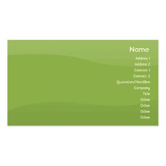 Ondas de Foamgreen - negócio Cartão De Visita