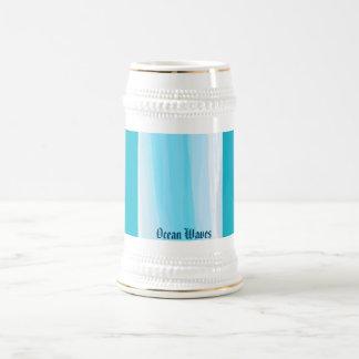 Ondas de oceano caneca de cerveja