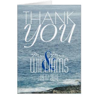 Ondas de oceano dos cartões de agradecimentos do