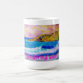 ondas de trovão caneca de café