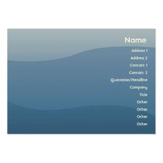 Ondas do azul - carnudos cartão de visita grande