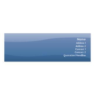Ondas do azul - magros cartão de visita skinny