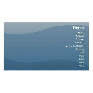 Ondas do azul - negócio cartão de visita