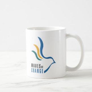 Ondas do café da mudança acima - personalizado caneca de café