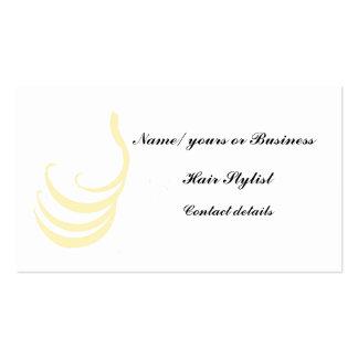 Ondas do ouro do cartão de visita do cabeleireiro