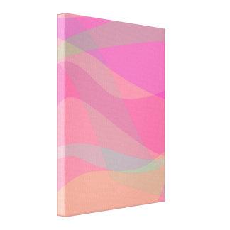Ondas do rosa impressão de canvas envolvida