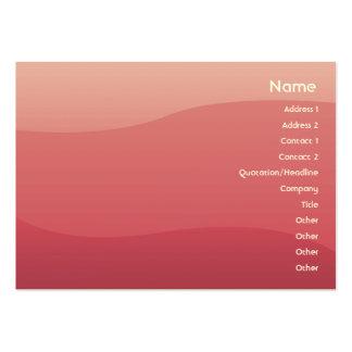 Ondas do rosa - carnudos cartão de visita grande