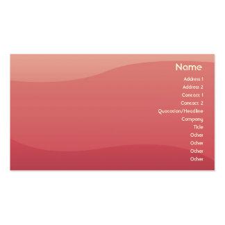 Ondas do rosa - negócio cartão de visita