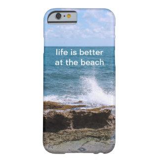 Ondas no exemplo do iPhone 6 da praia Capa Barely There Para iPhone 6