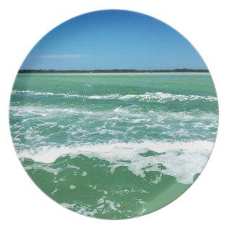 Ondas no Golfo do México Prato