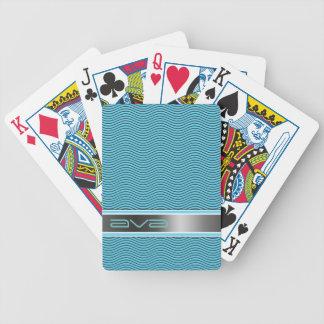 Ondas nomeadas Aqua Baralhos Para Pôquer