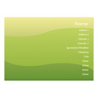 Ondas verdes - Chubyy Cartão De Visita Grande
