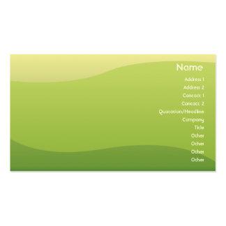 Ondas verdes - negócio cartão de visita