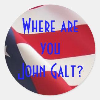 Onde é você John Galt? Adesivo