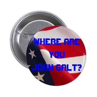 Onde é você John Galt? Bóton Redondo 5.08cm