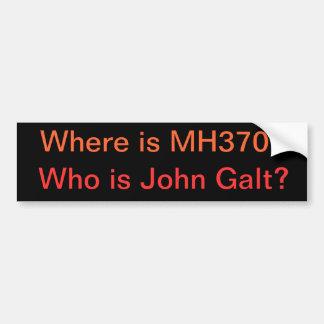 Onde está MH370? Quem é John Galt? Adesivo Para Carro