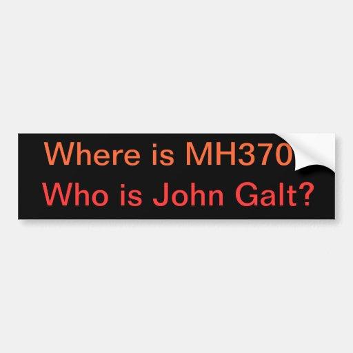 Onde está MH370? Quem é John Galt? Adesivos