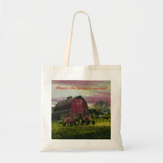 Onde está o mercado do fazendeiro? bolsa tote
