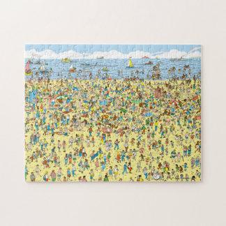 Onde está Waldo na praia Quebra-cabeça