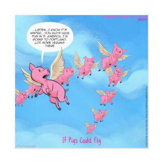 Onde os porcos voam o impressão engraçado das