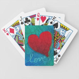 Ondinhas do coração do amor baralhos de poker