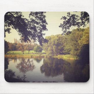 Ondinhas em uma lagoa Central Park Nova Iorque Mousepad
