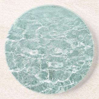 Ondinhas na água porta copos de arenito