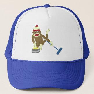 Ondulação olímpica do macaco da peúga boné
