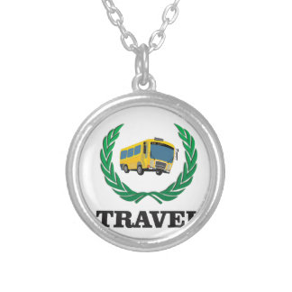 ônibus do viagem colar banhado a prata