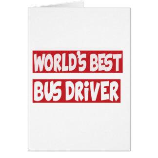 Ônibus Driver.png Cartão Comemorativo