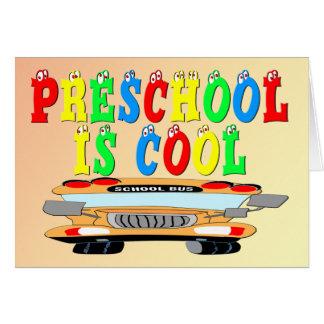 Ônibus legal do pré-escolar cartão comemorativo