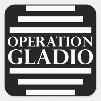 Operação Gladio Adesivo Quadrado