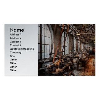 Operador - uma oficina de construção mecânica inte modelos cartão de visita