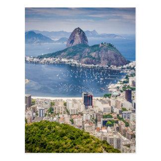 Opinião aérea de Rio de Janeiro Cartão Postal