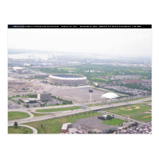 Opinião aérea do Veterans Stadium do PA de Cartão Postal