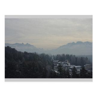 Opinião das dolomites cartão postal