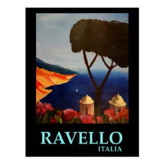 Opinião de Ravello Salerno Italia da costa de Cartão Postal
