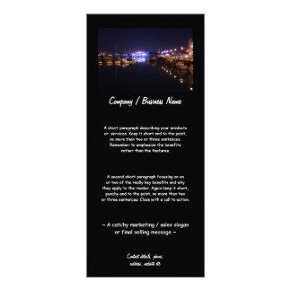 Opinião do cais na noite 10.16 x 22.86cm panfleto