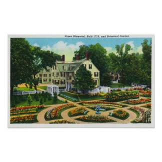 Opinião do memorial das cordas e de jardins botâni posteres