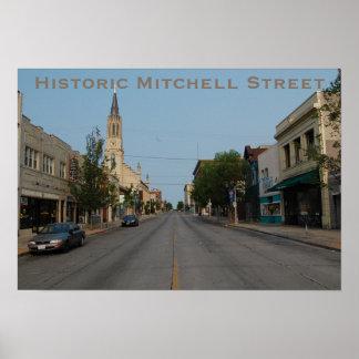 Opinião ocidental da rua histórica de Mitchell Poster