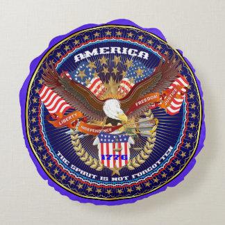Opinião patriótica ou do veterano sobre o design almofada redonda