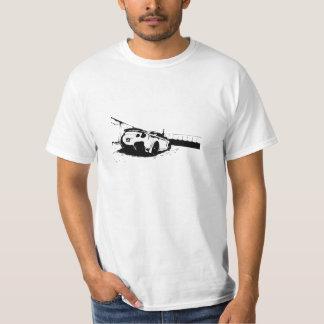 Opinião traseira da skyline camisetas