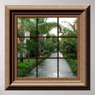 Opinião tropical luxúria da paisagem do poster da
