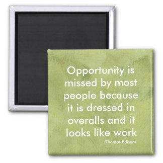 Oportunidade Ímã Quadrado