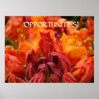 Oportunidades da ARTE do ESCRITÓRIO! Os rododendro Pôsteres
