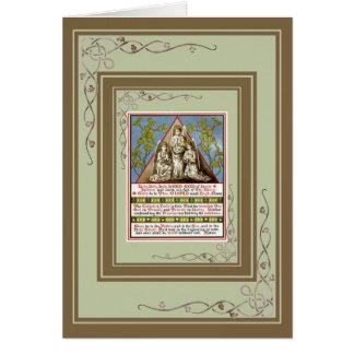 Oração do católico do vintage cartão comemorativo