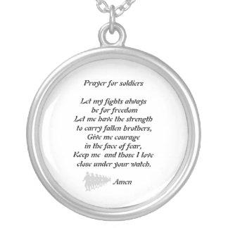 Oração para soldados bijuterias personalizadas