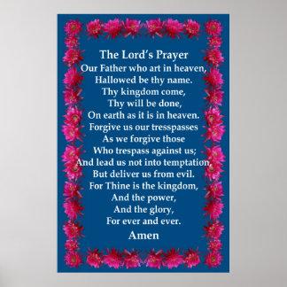 Oração s do senhor de em um quadro de cacto de o poster
