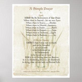 ORAÇÃO SIMPLES de POPE= ST FRANCIS para a ORAÇÃO d Poster